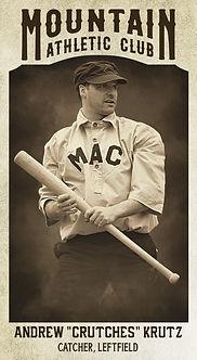 """Baseball Card Andrew """"Crutches"""" Krutz.jp"""