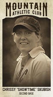 "Baseball Card Chrissy ""Showtime"" Skubish"