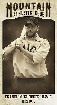 "Baseball Card Franklin ""Chopper"" Davis.j"
