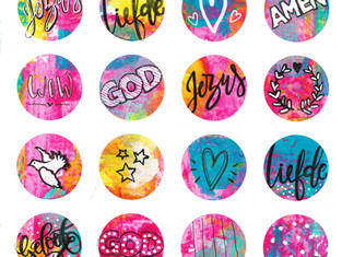 D.I.Y. biblejournaling stickers