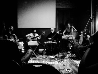 Lanzamiento disco de Dactilar, Guido Kohn, Jaime Chirif, Claudio Riva, A. I. y Hernan Vives, Bs As 2017 - Foto Marcela González.