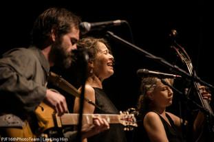 Trío Corazonantes, c/ Lucía Pulido y Misha Marks en el Panamá Jazz Festival, Ciudad de Panamá.