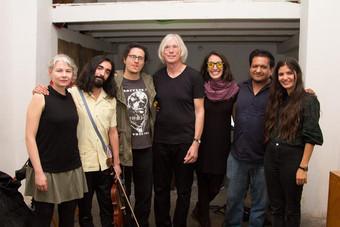 Tocando junto a Jaap Blonk, Carlos Alegre, Sarmen Almond, Rodrigo Ambriz, Fernando Vigueras y Fernanda Herreman en Bucareli 69, CDMX.