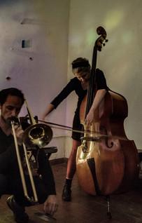 Con Sam Nacht, Bs As 2017, foto de Ramiro Larrain.