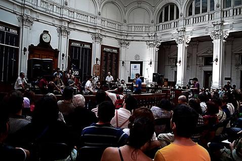 TARABUST ensamble junto a Nicolas Collins en Concierto. Bolsa de Valores de Valparaíso 2013. Festival de las Artes