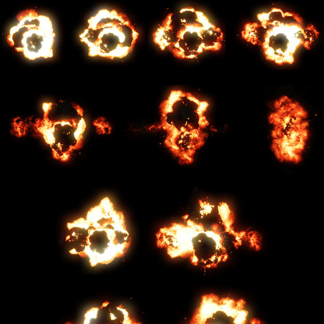Animation sprite sheet of an explosion effect I created in Unreal Engine.