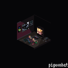 Isometric Scene of 2 friends playing N64