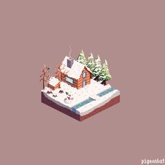 Isometric Winter scene