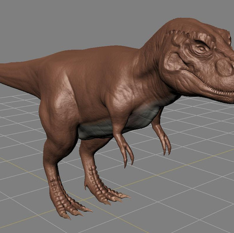 Digital 3D scultp of a T-Rex.
