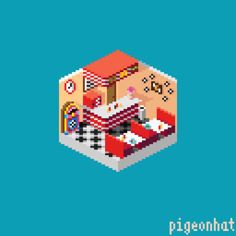 Isometric American Diner
