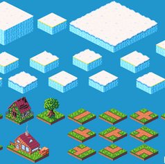 Collection of Isometric tiles from two personal projects