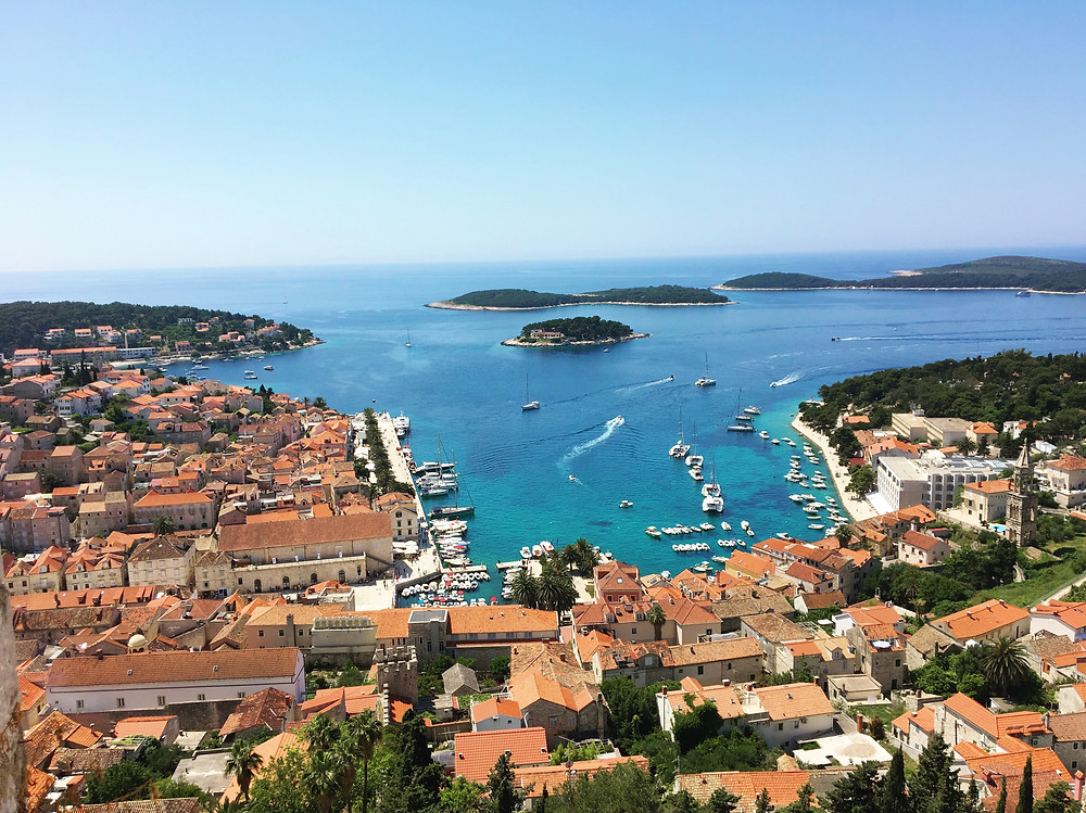 view of Hvar from Spajnola fortress