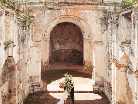 Dreamy Wedding Photoshoot in the ruins of Antigua, Guatemala
