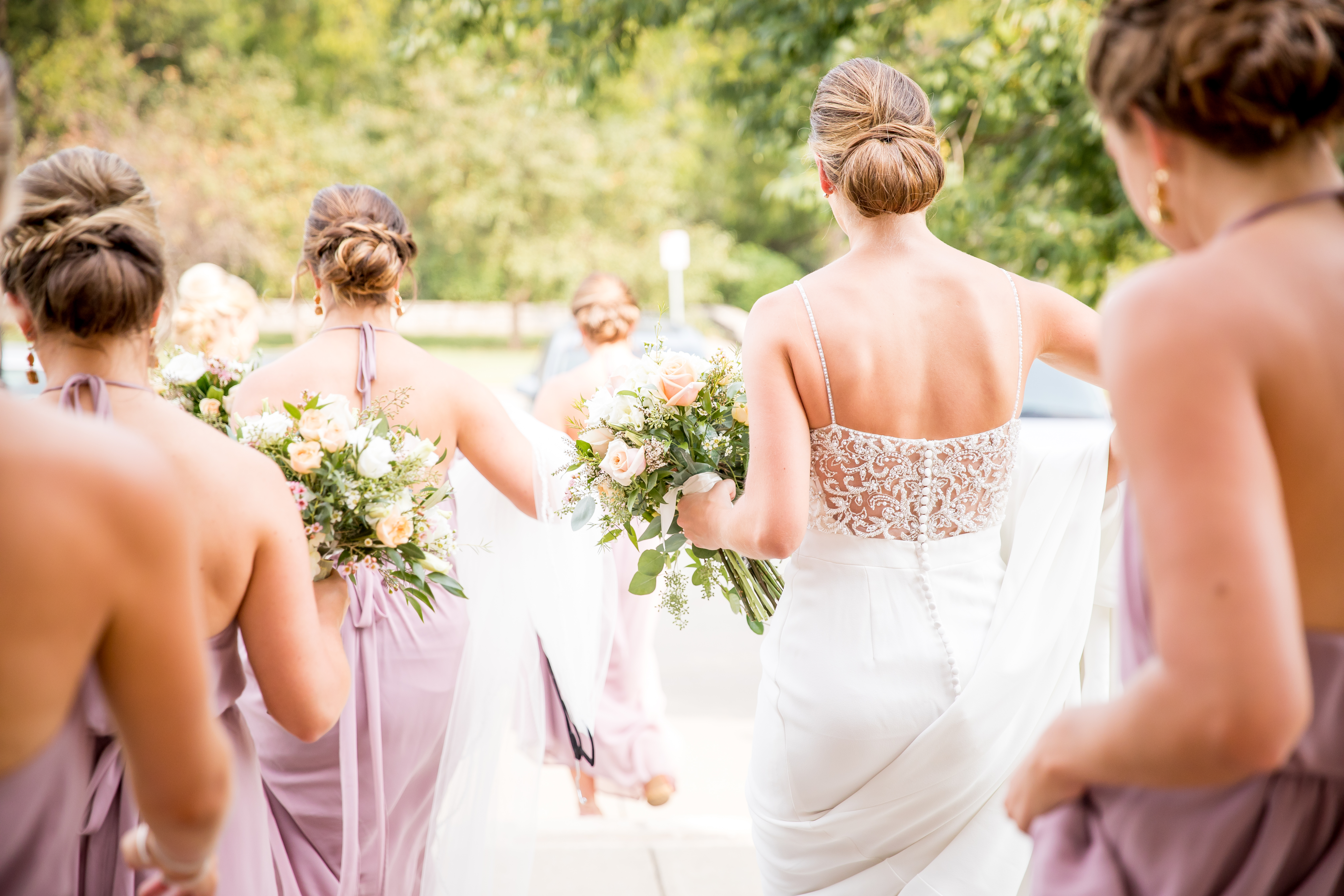 loose park bridesmaids wedding photo
