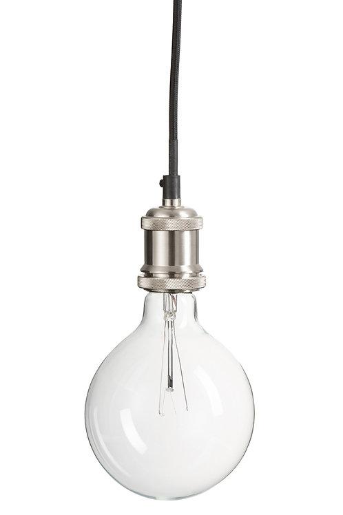 Lamp met houder in vernikkeld metaal