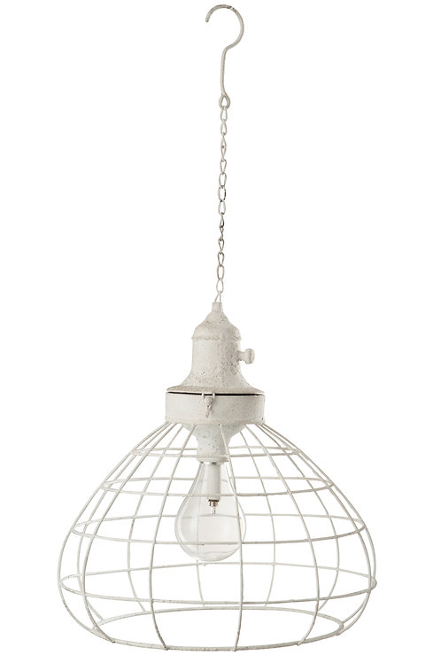 Hanglamp met stalen rasters