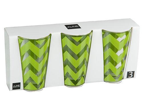Longdrink MEXICO - groen - set van 3