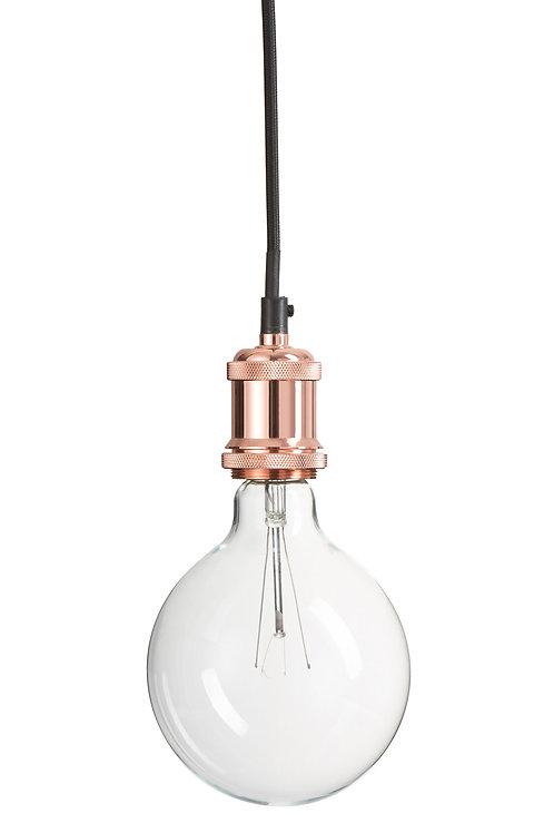 Lamp met houder in koperkleur