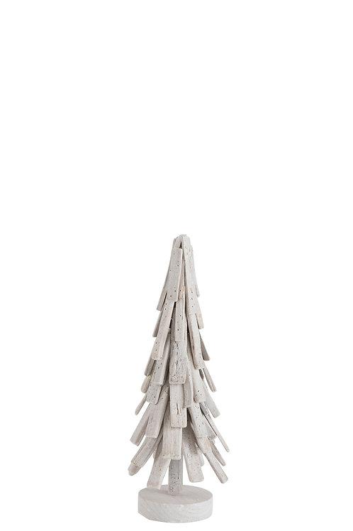 Kerstkegel whitewash - 51cm
