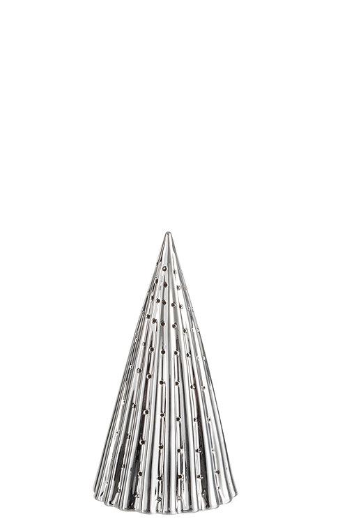Kerstkegel LED SILVER - 21cm