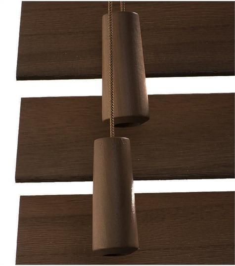 Optrekkoord houten lamellen