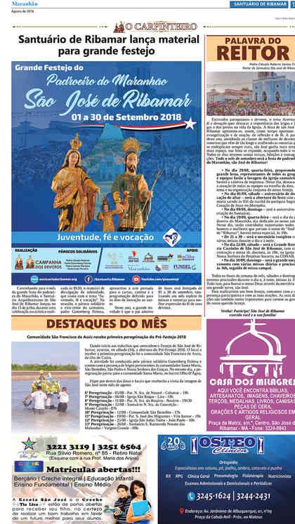 O Carpinteiro Edição 106 do Jornal do Maranhão - Agosto 2018