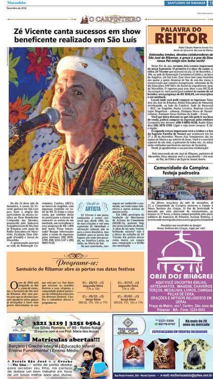 O Carpinteiro Edição 110 do Jornal do Maranhão - Dezembro 2018