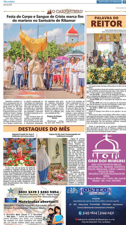 O Carpinteiro Edição 105 do Jornal do Maranhão - Julho 2018