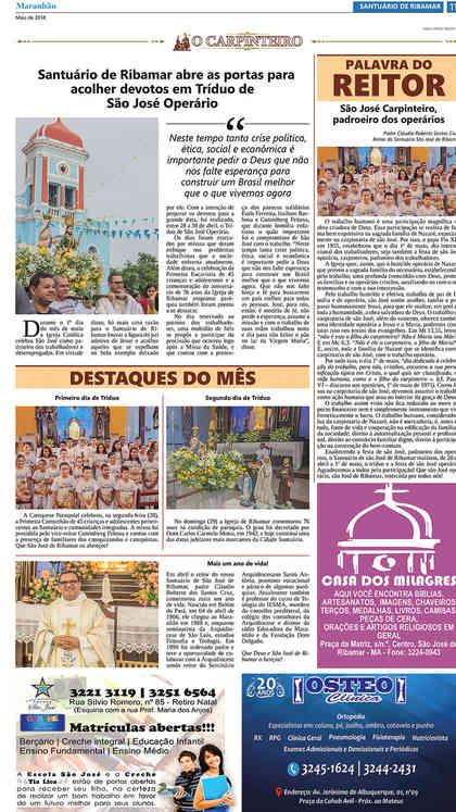 O Carpinteiro Edição 103 do Jornal do Maranhão - Maio 2018