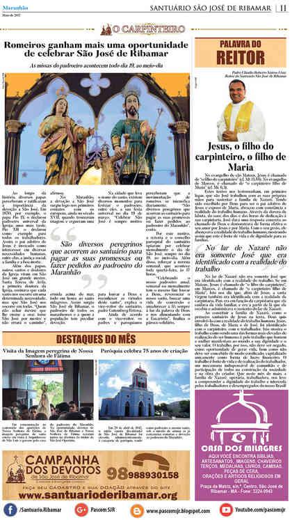 O Carpinteiro Edição 91 do Jornal do Maranhão - Maio 2017