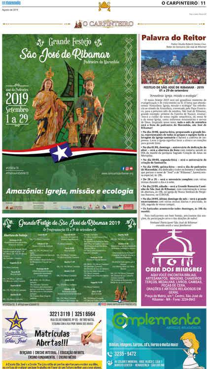 O Carpinteiro Edição 118 do Jornal do Maranhão - Agosto 2019