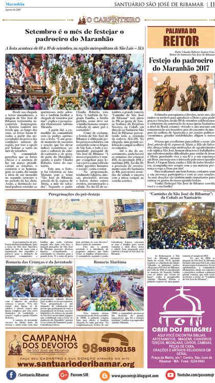 O Carpinteiro Edição 94 do Jornal do Maranhão - Agosto 2017