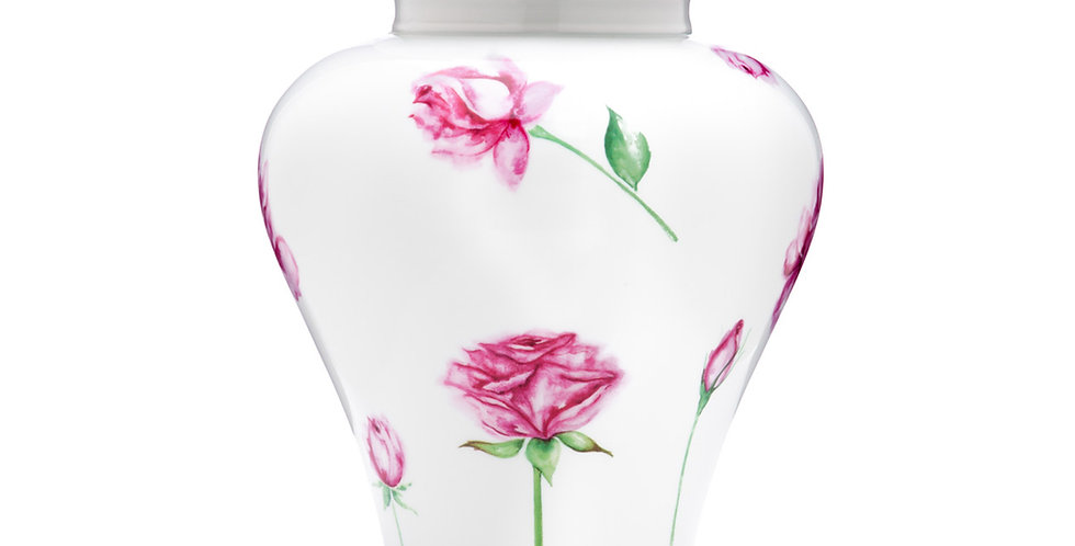 Rose Porcelain Urn