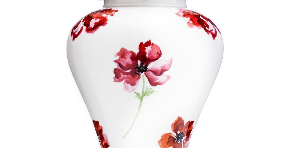 Poppy Porcelain Urn