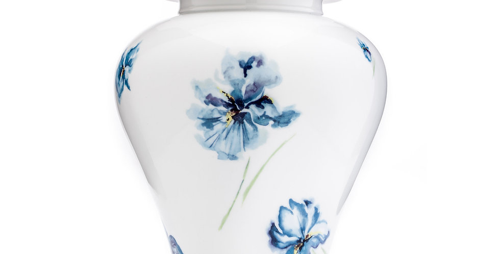 Iris Porcelain Urn