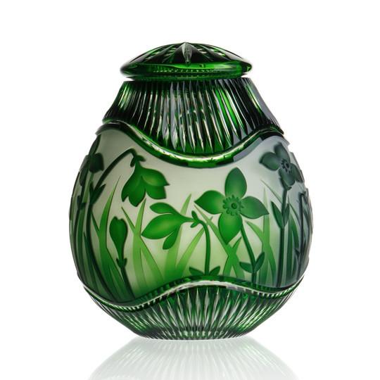 Daffodil Emerald cremation urn