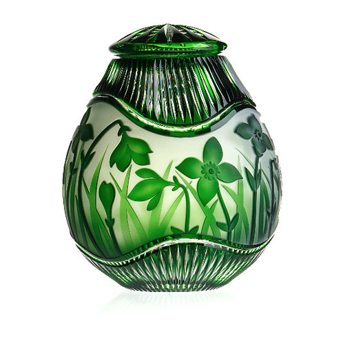 Crystal Daffodils Emerald Green