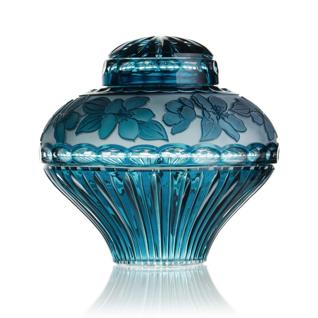 Crystal Lillies cremation urn