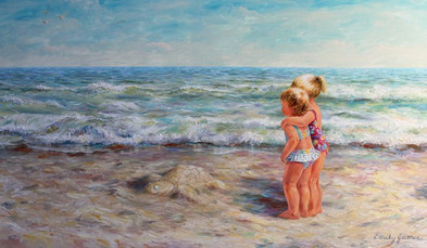 Little Girls at the Seashore