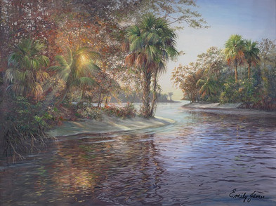 Sunlight Through the Palms