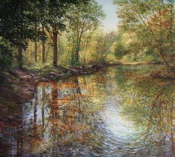 Wooded Lake Scene