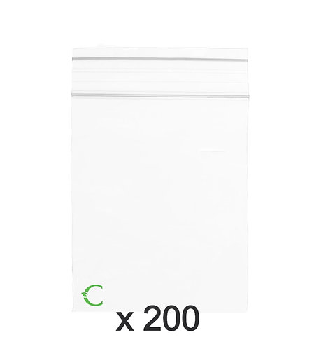 Biodegradable ziplock bag size L 8x12cm