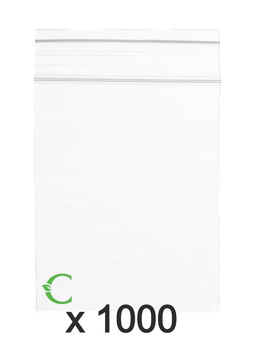Biodegradable ziplock bag size XL 10x15cm