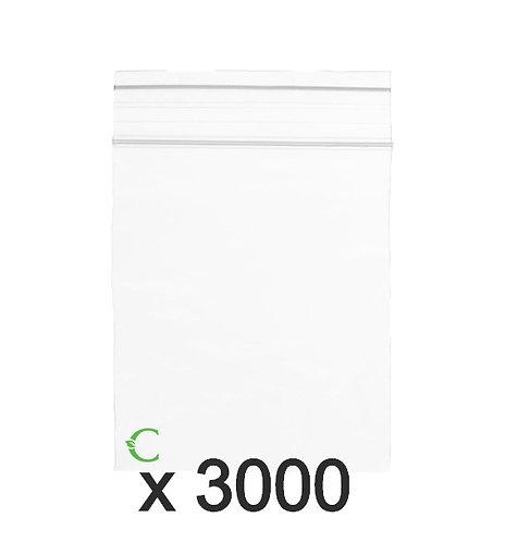 Biodegradable ziplock bag size M 5x7cm