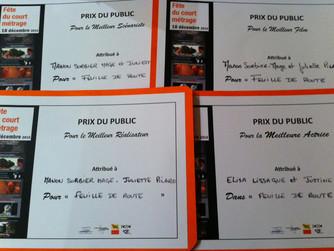 4 récompenses pour Feuille de Route!