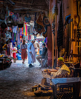'Moroccan Souk' by Pauline O'Flaherty ( 10 marks )
