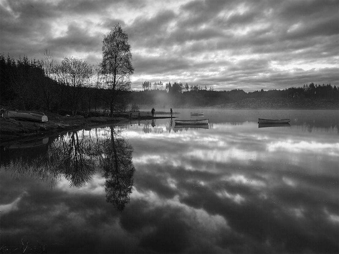 MONO - Sunrise on Loch Rusky by Chris Millar (10 marks)