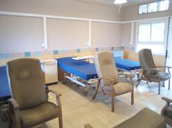Une chambre d'hospitalisation en cours d'aménagement