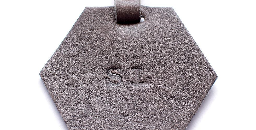 Hexagon Luggage Tag - Grey