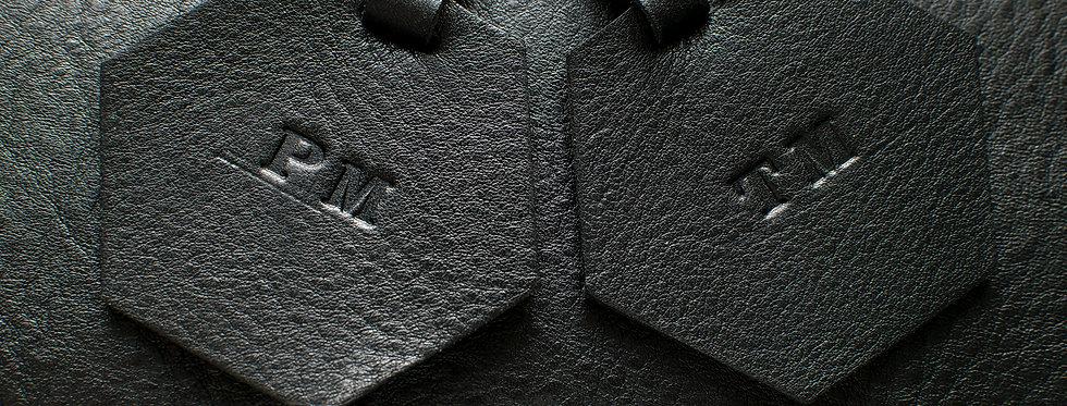 Hexagon Luggage Tag - Set of 2 - Black